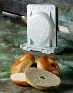 HALVE YOUR BAGEL. The bagel slicer that professionals use is now available for your home.